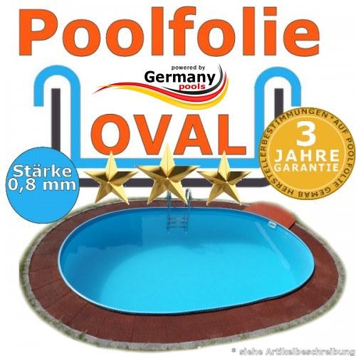 700 x 420 x 120 cm x 0,8 Poolfolie bis 150 cm