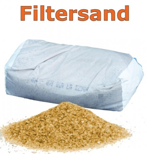 Fräscha Filtersand 0,8 - 1,25 Filterkies Pool Quarzsand | Pool.Net KO-88