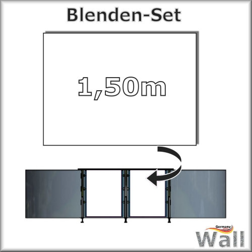 Germany-Pools Wall Blende A Tiefe 1,50 m Edition Alpha Weiß