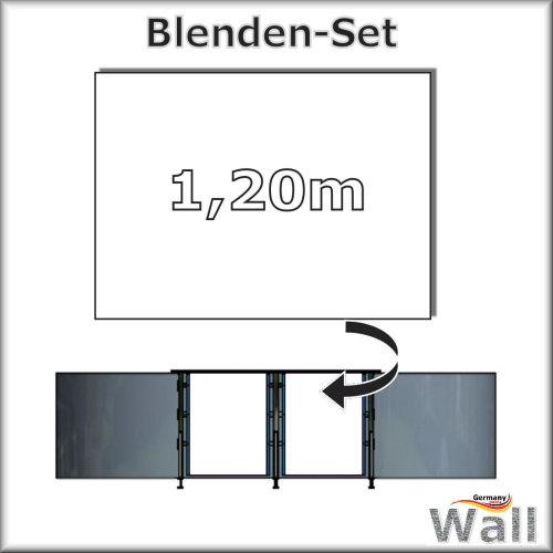Germany-Pools Wall Blende B Tiefe 1,20 m Edition Alpha Weiß