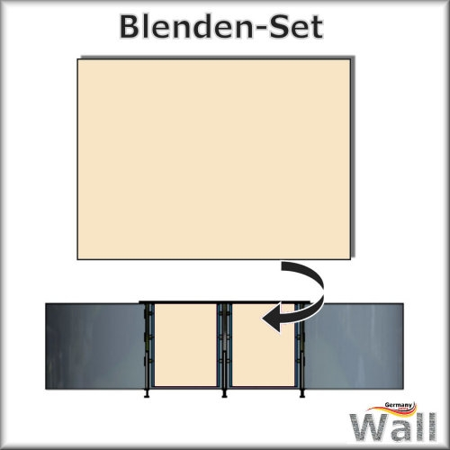 Germany-Pools Wall Blende B Tiefe 1,25 m Edition India