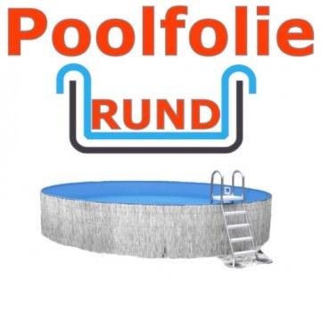 Poolfolie rund 3,50 x 1,20 m x 0,8 mm mit Einhängebiese