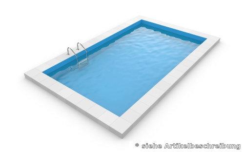 Rechteckpool 8,0 x 4,0 x 1,5 m Rechteckbecken Pool