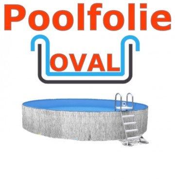 Schwimmbadfolie oval 7,00 x 3,50 x 1,50 m x 0,8 Einhängebiese