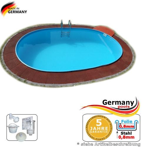 Schwimmbecken 6,10 x 3,60 x 1,35 m