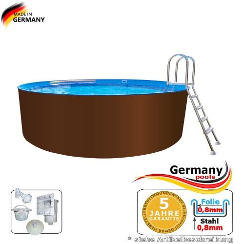 Stahl Pool 7,30 x 1,25 m