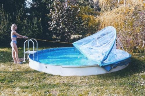 4,50-4,60m Rund Cabrio Dome Schwimmbadüberdachung