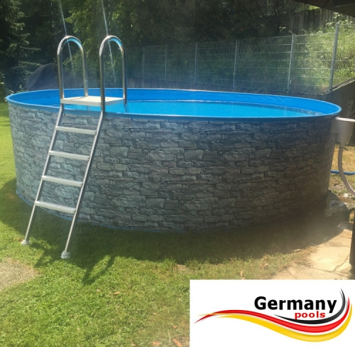 Poolset 6 0 x 1 2 m stahlwandbecken stone pools 6 for Stahlwandbecken pool