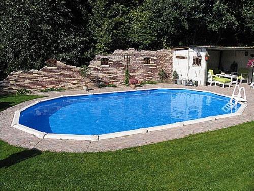 Stahlwandpool oval 6 10 x 3 60 x 1 32 m center pool for Gunstige poolsets