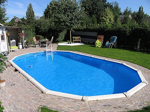 Ovalpool 8,50 x 4,90 x 1,32 m Center Pool oval freistehend | Pool.Net
