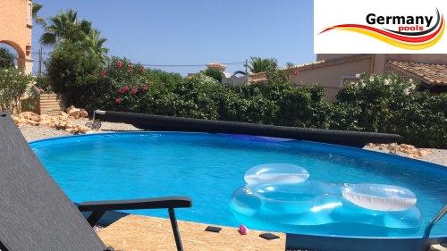 Stahl pool set 500 x 125 cm set komplettset 5 swimmingpool for Gunstige poolsets
