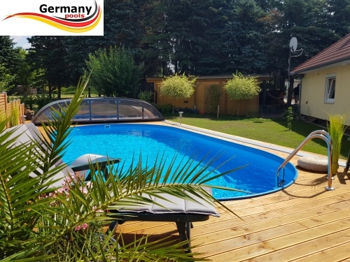 Einbaupool 5,30 x 3,20 x 1,50 m Einbaubecken Gartenpool Oval pool Ovalpool Pools