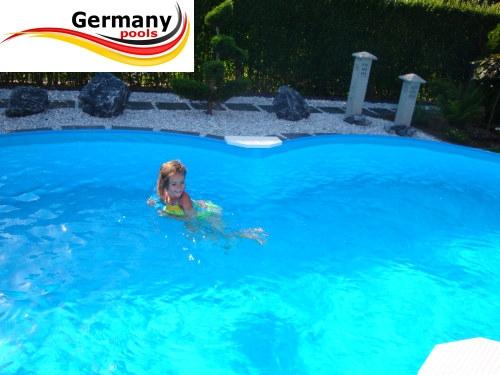 Achtform stahlwandpool 4 70 x 3 00 x 1 25 m set pool net for Gunstige poolsets