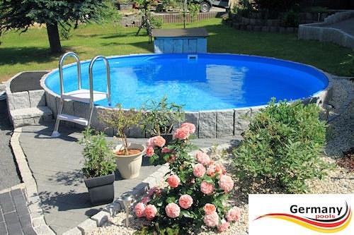 Berühmt Stahlwandpool 200 x 125 cm rund | Pool.Net SF29