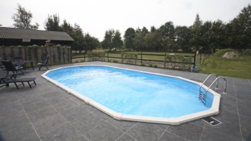 Ovalpool 6,10 x 3,60 x 1,32 m Center Pool oval freistehend