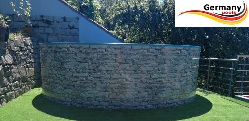 Poolset 4 6 x 1 2 m stahlwandbecken stone pools 4 60 for Stahlwandbecken steinoptik