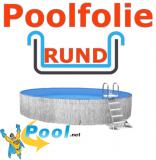 Poolfolie rund 5,00 x 1,20 m x 1,0 mm mit Einhängebiese