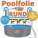 420 x 120 cm x 0,8 Poolfolie rund bis 150 cm