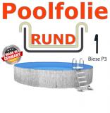 Schwimmbadfolie 400 x 150 cm x 0,8 Keilbiese Sand