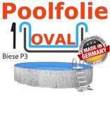 Poolfolie oval 6,00 x 3,20 x 1,20 m x 0,6 Keilbiese