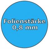 Ersatzfolie oval 6,00 x 3,20 x 1,50 m x 0,6 Keilbiese