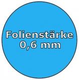 Poolfolie acht 6,25 x 3,60 x 1,20 m x 0,6 Achtformpool