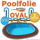 870 x 400 x 120 cm x 0,8 Poolfolie bis 150 cm