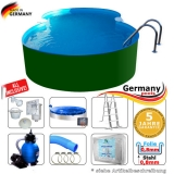 Achtform-Stahlwandpool 4,70 x 3,00 x 1,25 m Set Stahl-Pool