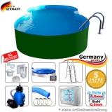 Achtform-Stahlwandpool 5,25 x 3,20 x 1,25 m Set Stahl-Pool