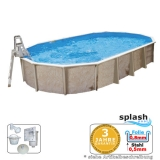 Ovalpool 7,30 x 3,60 x 1,32 m Center Pool oval freistehend