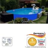 Ovalpool Blau 700 x 350 x 125 cm