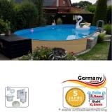 Ovalpool Holz Design 600 x 320 x 120 cm
