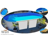 Ovalpool freistehend 5,25 x 3,20 m Germany-Pools Wall