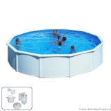 Pool 3,50 x 1,20 m STARK1 Plus Set Breiter Handlauf