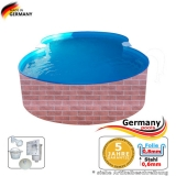 Pool achtform 625 x 360 x 120 Achtform Pool Brick Ziegel