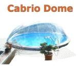 Poolabdeckung Cabrio-Dome 4,60 m Breiter Handlauf
