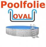 Poolfolie oval 6,00 x 3,20 x 1,35 m x 0,8 Einhängebiese