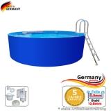 Stahlwand Pool 6,40 x 1,25 m