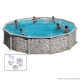 Swimming Pool 3,50 x 1,20 m SL Stein Breiter Handlauf