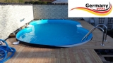 Edelstahl-Achtformpool 7,25 x 4,60 x 1,25 m Achtformbecken Pool