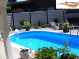 Alu Ovalpool 6,00 x 3,20 x 1,25 m Alu Ovalbecken Pool oval