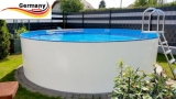 Alupool 5,00 x 1,25 m Alu-Rundbecken Alu-Rundpool Aluminium-Pool