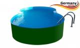 Achtform-Stahlwandpool 7,25 x 4,60 x 1,25 m Set Stahl-Pool