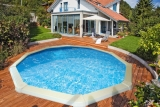 Swimmingpool 3,60 x 1,20 m STARK1 Set Breiter Handlauf 15 cm