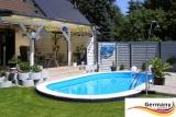 Edelstahl Ovalpool 7,37 x 3,6 x 1,25 m Einbau Pool oval Komplettset