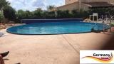 Alu-Schwimmbecken 5,50 x 1,25 m Alu-Swimmingpool Komplettset