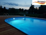 Pool oval 6,00 x 3,20 x 1,20 m Komplettset