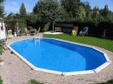 Stahlwandpool oval 8,50 x 4,90 x 1,32 m Center Pool freistehend Set