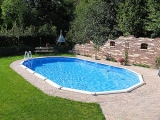 Stahlwandpool oval 7,30 x 3,60 x 1,32 m Center Pool freistehend Set