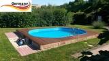 Swimmingpool 5,5 x 3,6 x 1,50 m Alu Pool Komplettset